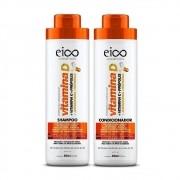 Kit Eico Shampoo E Condicionador Vitamina D 800 Ml
