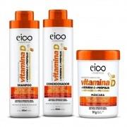 Kit Eico Vitamina D Shampoo, Condicionador E Máscara 1kg