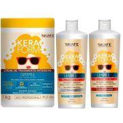 Kit Keraforme Camomila shampoo+cond+Mascara