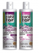 kit shampoo e condicionador natuhair cachos perfeitos 500ml
