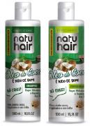 kit shampoo e condicionador natuhair óleo de coco 500ml