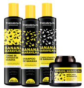 Kit Trattabrasil Banana Maravilha 4 produtos