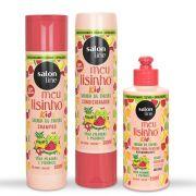 Meu Lisinho Kids Shampoo + Condicionador + Creme para pentear Salon Line