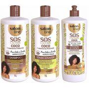 salon line  Coco Tratamento Profundo SOS Cachos 3 de 1l