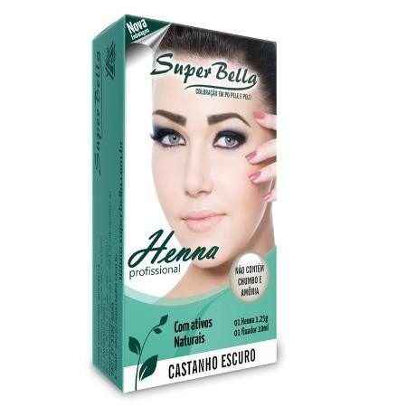 Kit Henna Super Bella 9 Cores