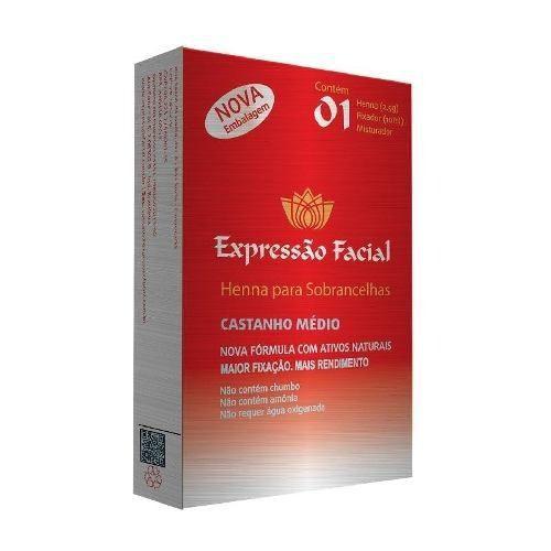 Henna Expressão Facial Castanho Médio 2,5g