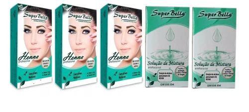 Kit Henna Super Bella ( 5 Produtos )