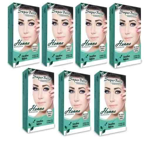 Kit Henna Super Bella 7 Cores 1.25g Cada