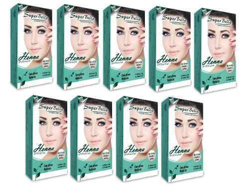 Kit Henna Super Bella 9 Cores 1,25g Cada
