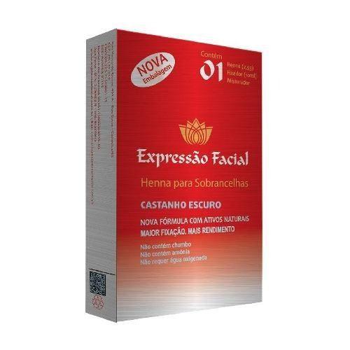 Henna Expressão Facial Castanho Escuro 2,5g