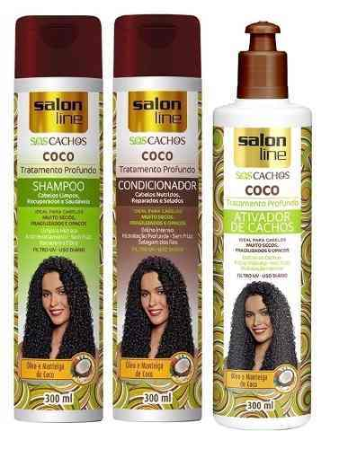 Shampoo + Condic+ativador Salon Line S.o.s Cachos Coco