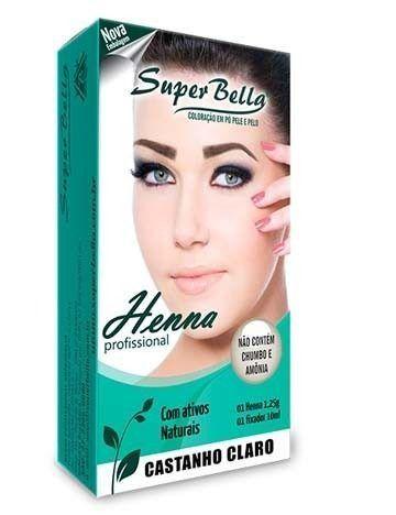 Henna Super Bella Castanho Claro 1.25g