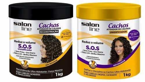Ativador De Cachos Sos Salon Line 1kg ( 2 Produtos )