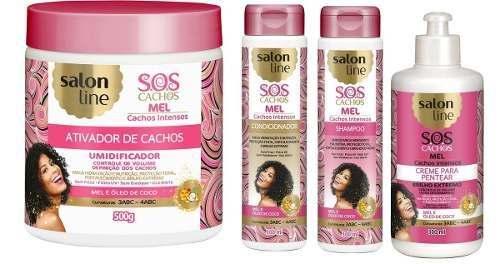 Kit Salon Line S.o.s Mel - Cachos Intensos 4 Produtos