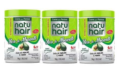 Creme Para Pentear Natu Hair Óleo De Abacate 3x1k