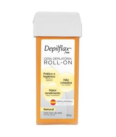 Cera Depilflax 100g Roll-on Natural