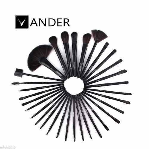 Kit Pincel Maquiagem Vander C/32 Unidades Preto