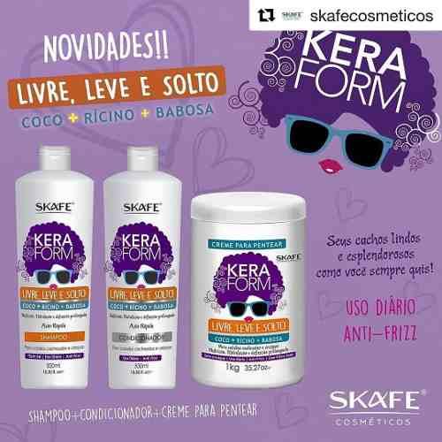 Kit Keraform Livre, Leve E Solto 3 Produtos