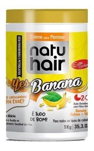 Creme Para Pentear Natu Hair Banana 1kg