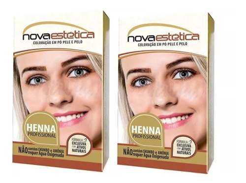 Kit Henna Para Sobrancelha Nova Estética 2 Cores