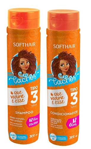 Low Poo Shampoo + Cond Soft Hair Cachos Tipo 3 300ml