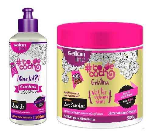 Creme Para Pentear To De Cachos 500ml Sonhos +gelatina 550g