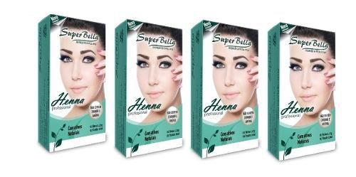 Kit 4 Henna Super Bella 1.25g Cores