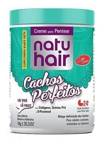 Creme Para Pentear Natu Hair Cachos Perfeitos 1kg