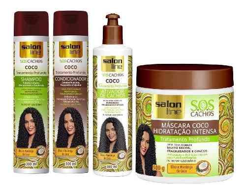 Shampoo + Cond+ativador+máscara Salon Line S.o.s Cachos Coco