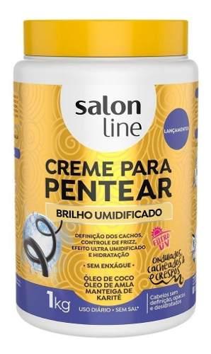 Creme Para Pentear Salon Line - Brilho Umidificado 1kg
