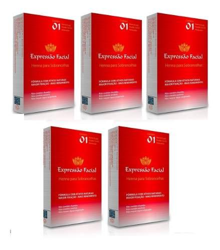 Kit Henna Expressão Facial 2.5g Com 5 Cores