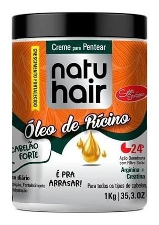 Creme Para Pentear Natu Hair Óleo De Rícino 1kg