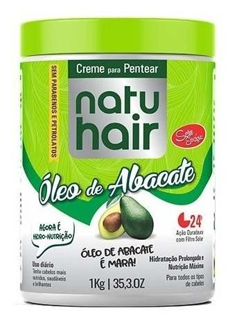 Creme Para Pentear Natu Hair Óleo De Abacate 1k