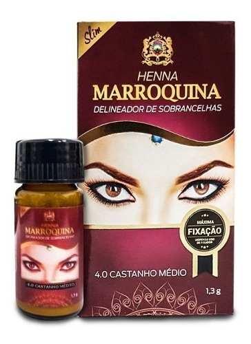 Henna Sobrancelhas Marroquina 4.0 Castanho Médio 1.3g