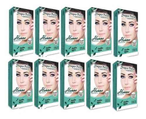 Kit Henna Super Bella 10 Cores 1.25g Cada