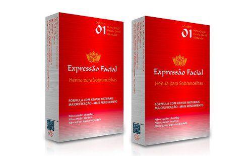 Henna Expressão Facial 2 Unidades