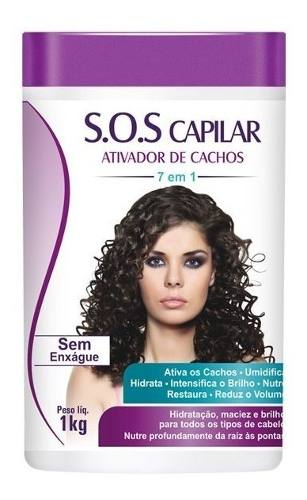 S.o.s Capilar Ativador De Cachos 1k 7em1 Hidrante