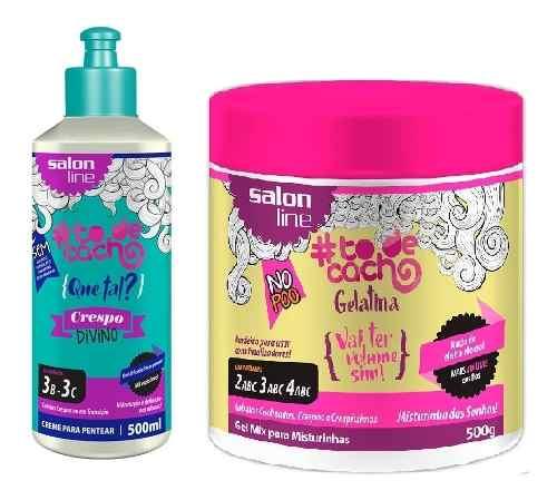 Creme Para Pentear To De Cachos 500ml Divino +gelatina 550g