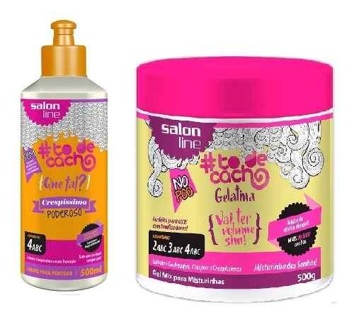 Creme Para Pentear To De Cachos 500ml Poderos +gelatina 550g