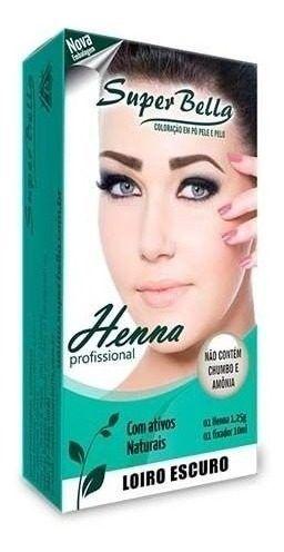 Henna Super Bella Louro Escuro 1,25g