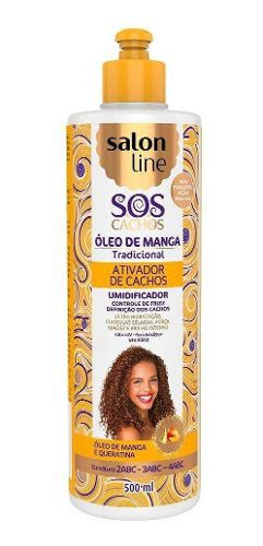 Ativador De Cachos Umidificador Salon Line 500ml