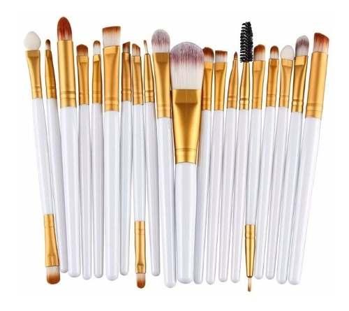 Kit 20 Pincéis De Maquiagem Dos Olhos