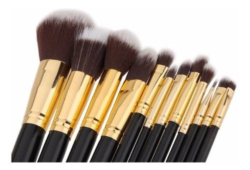 Kit Pincel Profissional Maquiagem 10 Peças