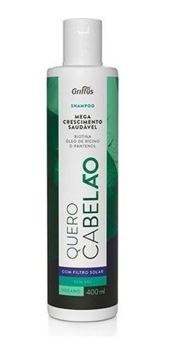 Shampoo Quero Cabelão Bombado De Vitaminas 400 Ml