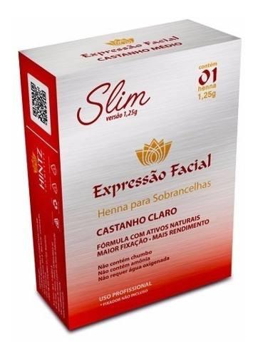 Henna Expressão Facial Castanho Claro 1.25g + Fixador 10g