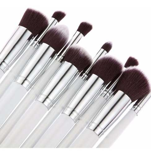Kit Pincel Maquiagem - Branco C/10 Peças