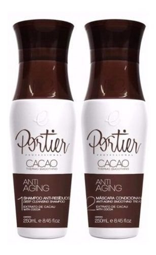 Portier Cacao Escova Progressiva 2 X 250ml Anti Aging