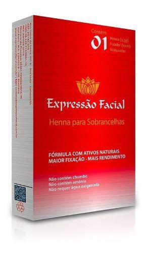 Kit Henna Expressão Facial Profissional