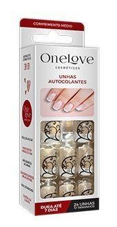 Unhas Autocolantes One Love Ol-0065 Frech Tattoo Médio