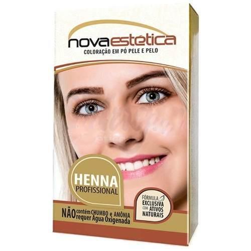 Kit Henna Para Sobrancelha Nova Estética Castanho Escur 2,5g
